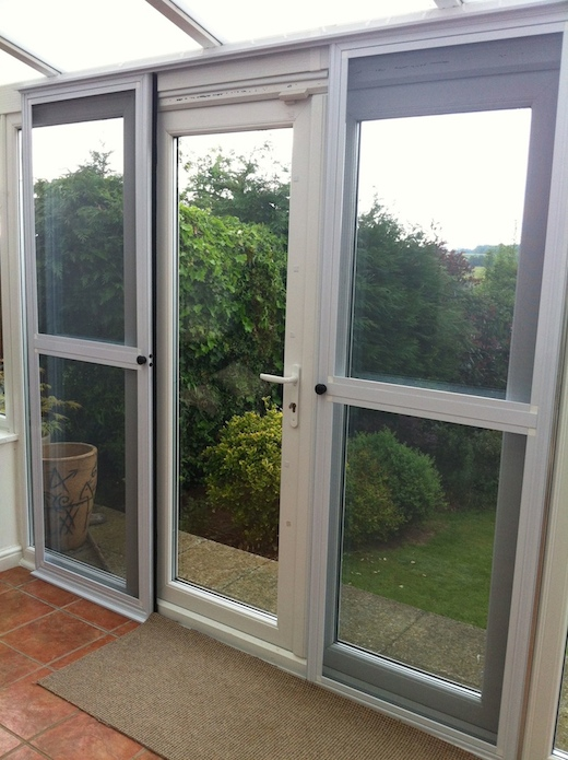 Fly screen doors for Double sliding screen door