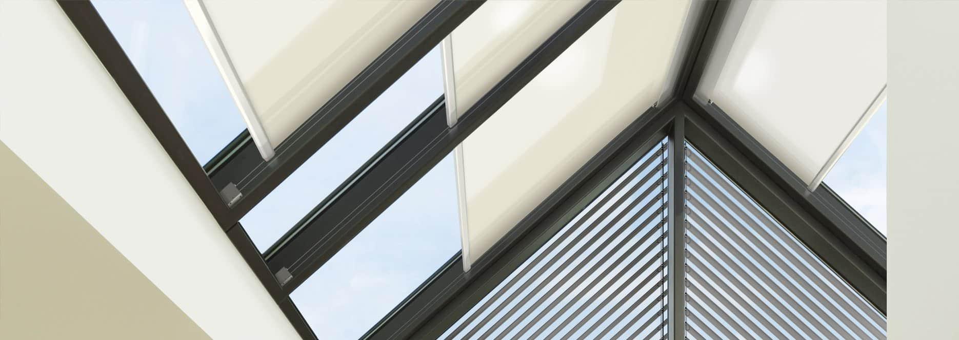 Warema ceiling and atrium roller blinds