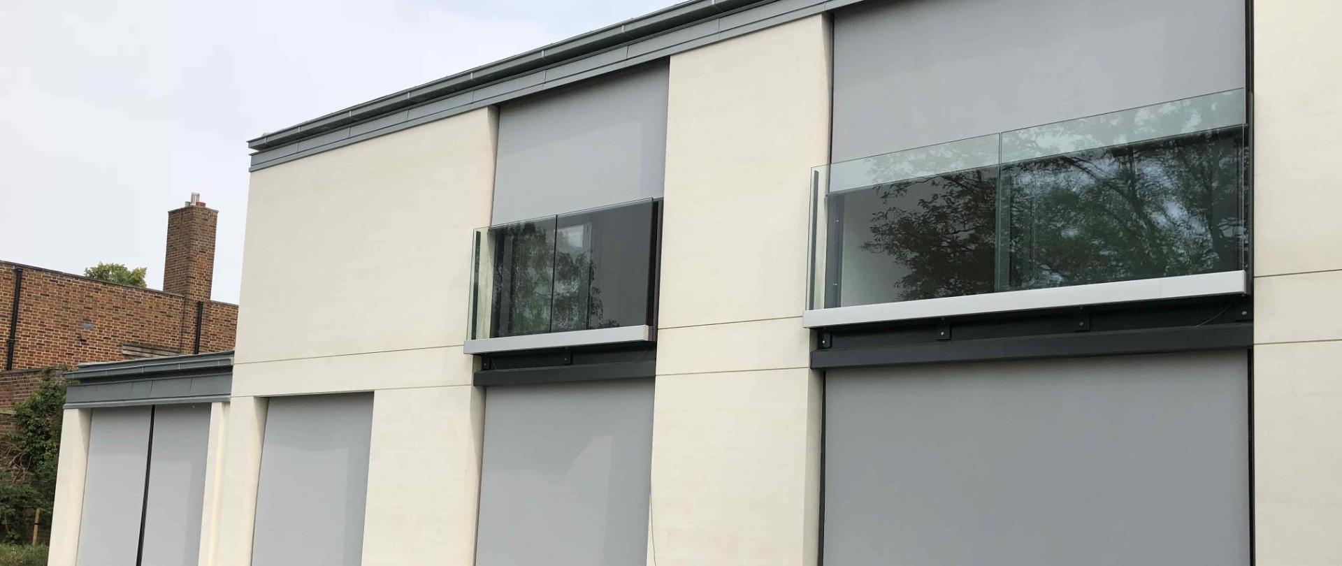 Warema UK screen fabric external roller blinds Cambridge
